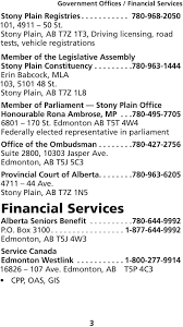 Stony Plain  AB T Z  L  Member of Parliament Stony Plain Office Honourable Rona Ambrose