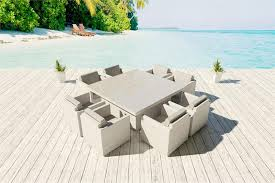 White Wicker Outdoor Patio Furniture by White Wicker Dining Set Viro 15 Colors