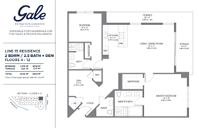 the gale line 15 floor plan 2 bed 2 5 bath floors 4 12