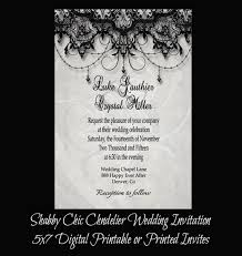 White Shabby Chic Chandelier by Vintage Shabby Chic Chandelier Wedding Invitation Wedding