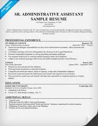 Administrative Secretary Resume Sample by Senior Executive Assistant Resume Executive Assistant Resume