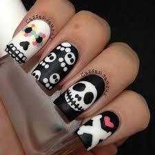best 25 skull nail art ideas on pinterest skull nails skull