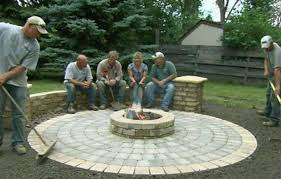 Fire Pit Pad by How To Build A Round Patio With A Fire Pit This Old House