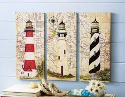 Nautical Home Accessories Canvas Lighthouse Bathroom Decor In Nautical Lighthouse Bathroom