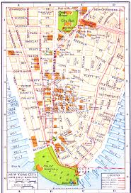 Street Map Of New York City by New York City Map Lower Manhattan Tribeca And Chinatown Throughout