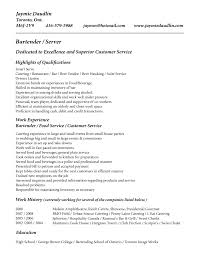 Qualifications Resume Example by Bartender Resume Examples Berathen Com