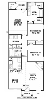small bungalow house plans floor plan with design