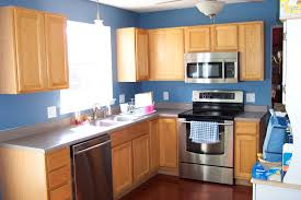 fantatsic light brown kitchen cabinet color with gray countertop