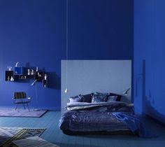Cobalt Blue Wall Need To Know What Paint They Used For The - Bedroom colors blue