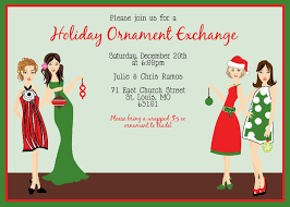 christmas ornament exchange invitation wording futureclim info