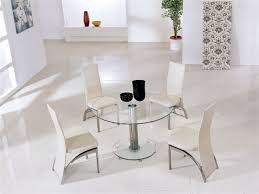 Round Wooden Table Top View Small Glass Dining Tables Chrome Glass Dining Table Modern Glass
