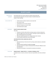 Officer Resume Exquisite Best Professional Security Officer Resume Example