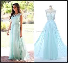 2017 cheap coral mint green long junior bridesmaid dress lace