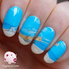 piggieluv message in a bottle nail art