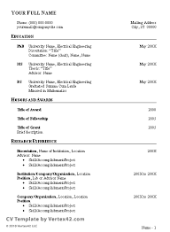 template for cv diaster   Resume And Cover Letters