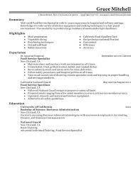 Inventory Specialist Resume Sample by Food Service Resume 9 Server Resume Sample Uxhandy Com