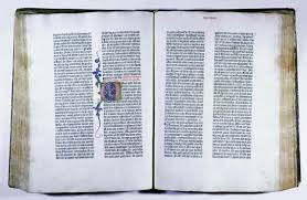 Bible   sacred text   Britannica com Encyclopedia Britannica Two pages from the Gutenberg Bible  printed in Mainz  Ger
