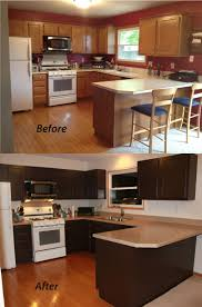 Restaining Kitchen Cabinets How To Resurface Kitchen Cabinets With Paint Best Home Furniture