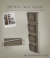 Wall Mounted Shelves Wood Plans by Build A Diy Wall Mail Sorter Building Plans By Buildbasic Www