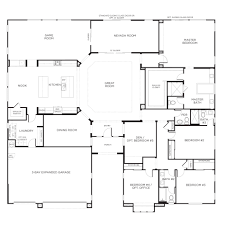 Small 3 Bedroom House Floor Plans by Download Single Story Small House Plans Zijiapin