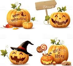 halloween vector art happy halloween pumpkin set stock vector art 485492798 istock