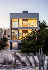 House On Pilings by This Modern Beach House Is A Replacement For A Home That Was
