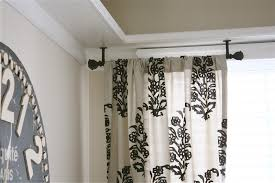 high end ceiling curtain rod and hardware modern ceiling design