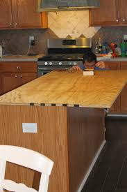 How To Install Kitchen Island by Do This Plywood Countertop Stained And Sealed For The Kitchen
