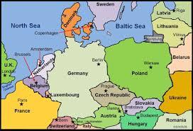 Western Europe Political Map by Europe Www Geo4u Net