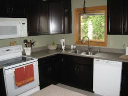 Small U Shaped Kitchen Layout Ideas by Small L Shaped Kitchen Like Yours With Dark Cabinets And White
