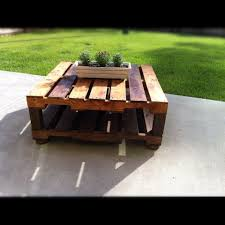 Lowe Outdoor Furniture by Outdoor Table Made With 2 Free Pallets 4x4 Wood Legs From Lowe U0027s