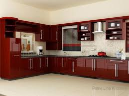 Small Kitchen Interior Design Small Kitchen Makeover Makeover With White Cabinet And Red