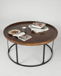 round wood mosaic coffee table b side tables living room coffee