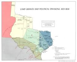 Mexico Map 1800 by Land Grants The Handbook Of Texas Online Texas State Historical