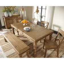 Large Dining Room Tables by Solid Pine Wood Large Dining Room Bench With Turned Legs By