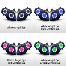 kt headlight for honda goldwing gl1800 2001 2017 led angel eye