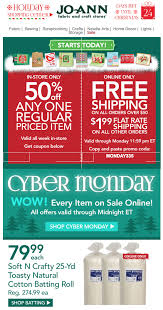 jo ann cyber monday 2017 sale in store coupons blacker friday jo ann fabrics cyber monday ad page 1