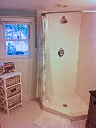 Angled Shower Curtain Rod How To Make An Industrial Style Curtain Rod