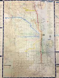 Chicago Parking Map by Chicago Cta Train Bus Map