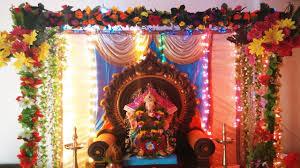 ग र गणपत सज वट 2016 gauri ganpati decoration