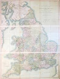 cary u0027s six sheet map of england and wales with part of scotland