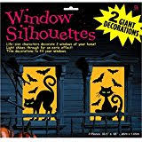 spooky halloween silhouettes punch out window shadows for a