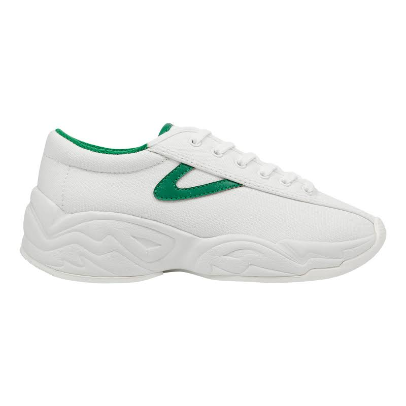 Tretorn Nylite Fly Canvas Vintage White / Green Ankle-High Fabric Sneaker 8.5M