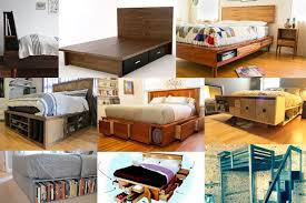 Make A Platform Bed With Storage by Wood Platform Beds With Storage Drawers
