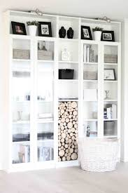 White Short Bookcase by Billy Bookcases 4 With Glass Doors Ikea With One Horizontal On