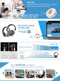 home theater bluetooth transmitter amazon com avantree bluetooth 4 2 transmitter built in battery