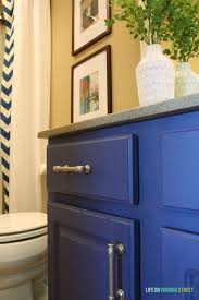 Painting Bathroom by Bathroom Vanity Makeover Using Country Chic Paint Life On