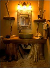 inspiring cozy rustic bathroom ideas white freestanding vanity and