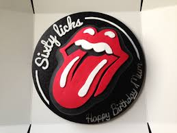 home made rolling stones cake rolling stones pinterest