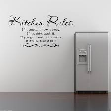 Kitchen Cabinet Quote Kitchen Rules Wall Art Sticker Kitchen Quote Mural Stencil